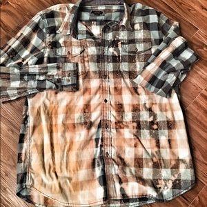 LEE custom bleached flannel.